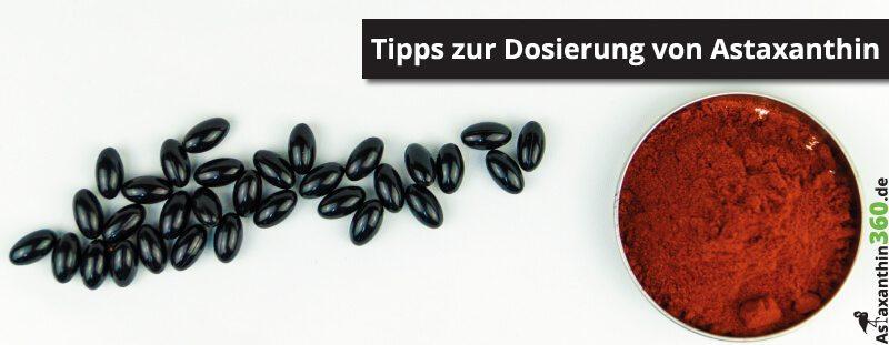 Unsere Tipps für die richtige Astaxanthin Dosierung.