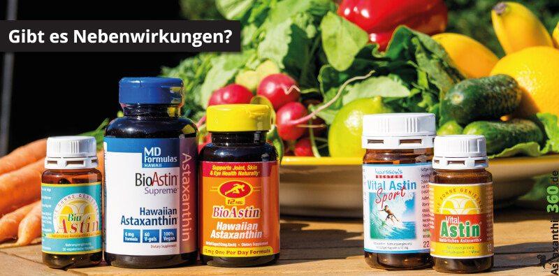 Ist mit Astaxanthin Nebenwirkungen zu rechnen?