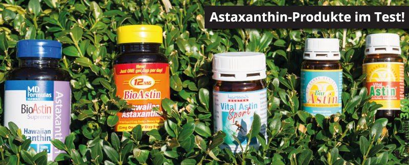 Im Astaxanthin Test wurden verschiedene Produkte geprüft.