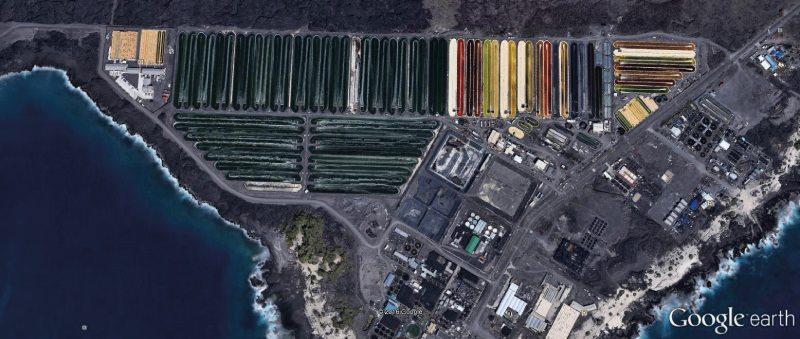 Sattelitenbild der Cyanotech Algenfarm auf Hawaii.